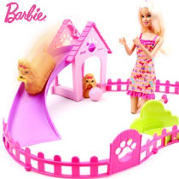 Barbie 芭比娃娃 芭比之狗狗快跑 芭比娃娃礼盒 X2631 -网上订购 网